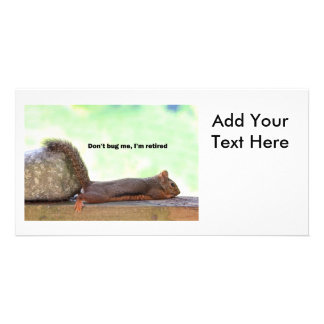 Ruhestands-Spaß-Eichhörnchen Photo Karte