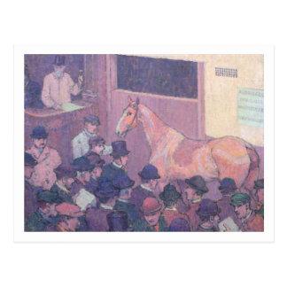 Ruhig mit allen Straßen-Belästigungen, c.1912 (Öl Postkarte