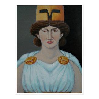 Ruhige Athene-Ikone Postkarte