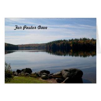 Ruhige See-Fotografie-Pastor-Anerkennung Grußkarte