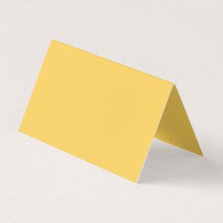 Ruhige Senf-Gelb-Farbe Visitenkarten