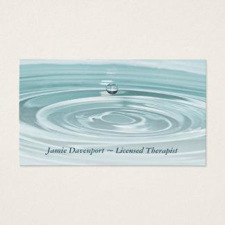 Ruhige Waterdrop Visitenkarte
