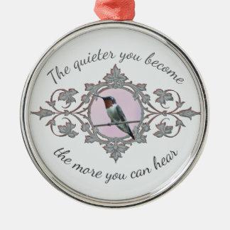Ruhige Zeit, stillstehender Kolibri Silbernes Ornament
