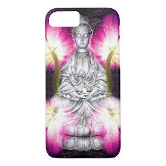 Ruhiger Buddha u. Tulpen iPhone 8/7 Hülle