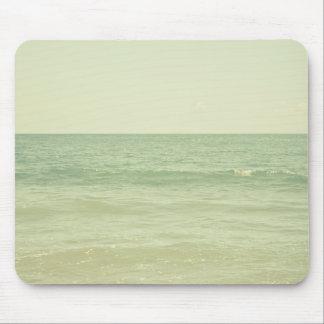 Ruhiger Pastellphotographie-Minzen-Grün-Ozean Mauspads