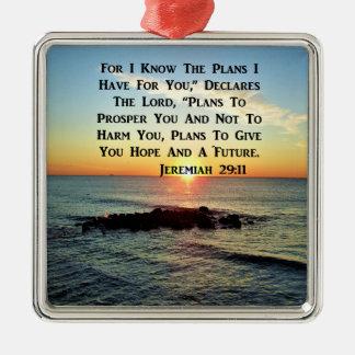 RUHIGER SONNENAUFGANG-JEREMIAS-29:11 SILBERNES ORNAMENT
