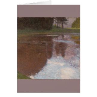 Ruhiger Teich Gustav Klimt Grußkarte