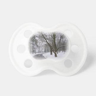 Ruhiger Winter-Nachmittags-Antrieb Schnuller