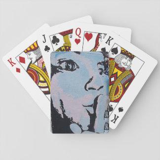 Ruhiges Poker-Gesicht Spielkarten