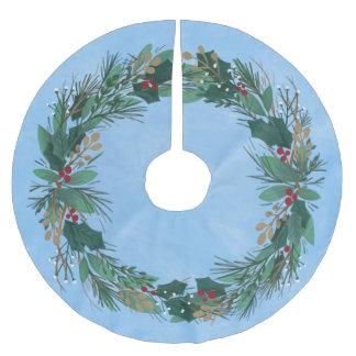 Ruhm Weihnachtsbaum-dem Rock zu des Gott-Kranz-| Polyester Weihnachtsbaumdecke