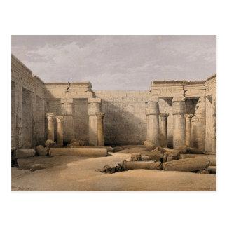 Ruinen bei Medinet Abou, Thebes, Ägypten Postkarte