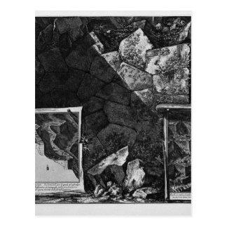Ruinen der alten Verstärkungen des mountai Postkarte