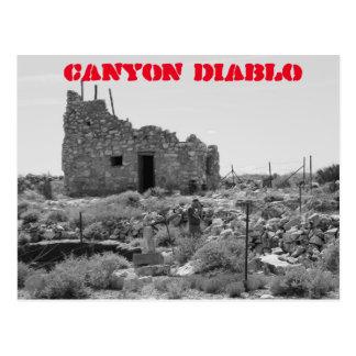 Ruinen der Schlucht Diablo, Arizona Postkarte