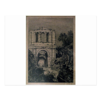 Ruinen des Gallien Palastes durch Maxime Lalanne Postkarte