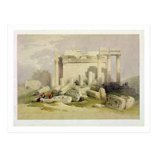 Ruinen des OstPortico des Tempels von Baal Postkarte
