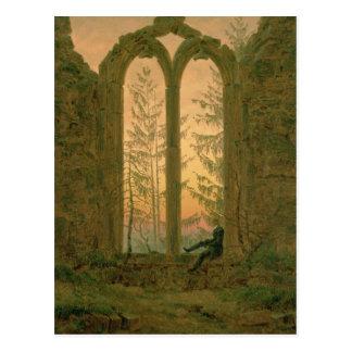 Ruinen des Oybin Klosters 1835-40 Postkarte
