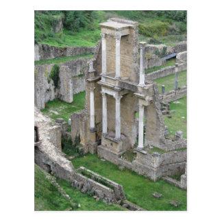 Ruinen eines antiken römischen Amphitheaters Postkarte