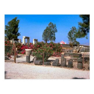 Ruinen von Capernaum, Galiläa Postkarte