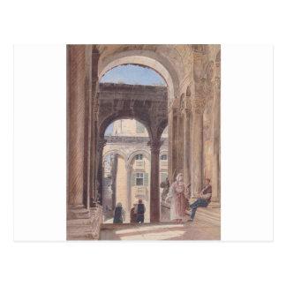 Ruinen von Diocletian bei Spalato durch Rudolf von Postkarte