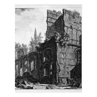 Ruinen von einem der Kammern ` Soldaten bei einem Postkarte