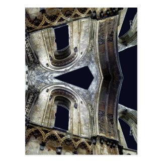 Ruinen von Glastonbury Abtei: www.AriesArtist.com Postkarte