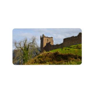 Ruinen von Urquhart Schloss entlang Loch Ness, Adressaufkleber