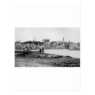 Ruinen vor der Hauptstadt in Richmond, 1865 Postkarte
