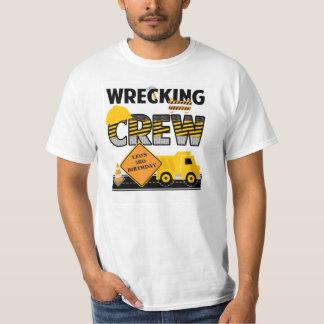Ruinieren des Crew-Shirts, Bau-Arbeitsbereich, T-Shirt
