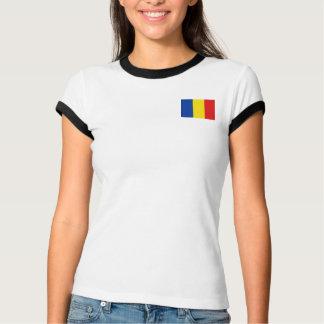 Rumänien-Flagge + Karten-T - Shirt