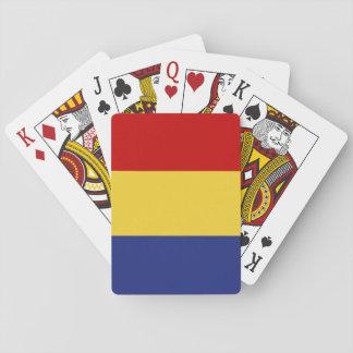 Rumänien-Flagge Spielkarten
