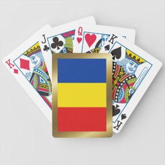 Rumänien-Flaggen-Spielkarten Bicycle Spielkarten