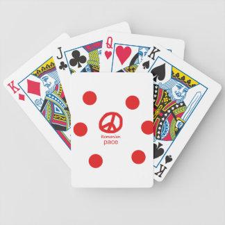 Rumänische Sprache und Friedenssymbol-Entwurf Bicycle Spielkarten