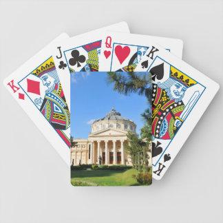 Rumänischer Athenaeum in Bukarest, Rumänien Bicycle Spielkarten