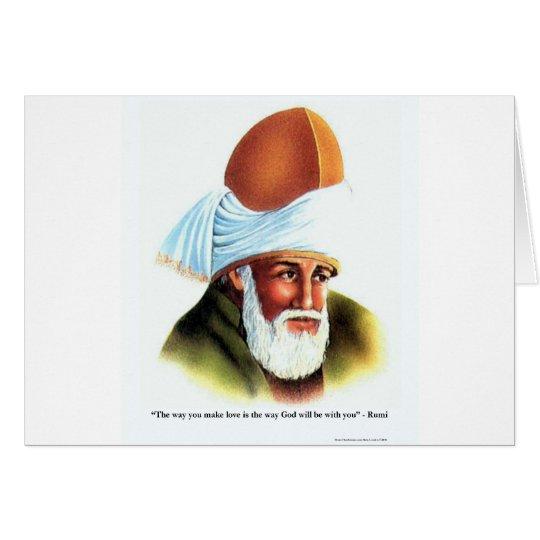 Rumi die Weise lassen Sie Liebe Grußkarte