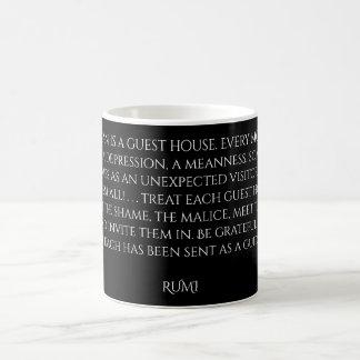 """Rumi """"Gast-Haus-"""" Wörter von Klugheit Kaffeetasse"""