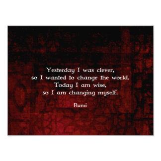 Rumi Klugheits-Zitat über Änderung u. Intelligenz Foto