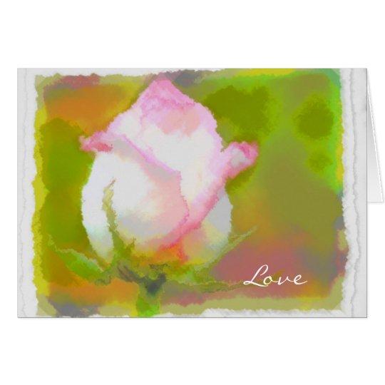 Rumi und Rosen-Blüte Grußkarte