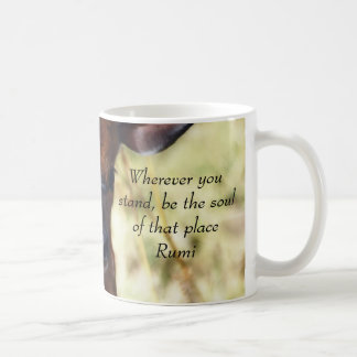 Rumi, wohin Sie stehen Kaffeetasse