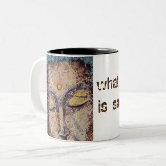 Rumi Zitat-Buddha-Kunst-Kaffee-Tasse Zweifarbige Tasse