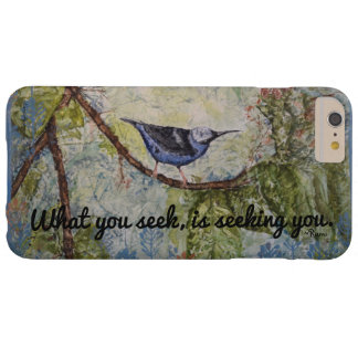 Rumi Zitat-Vogel-Aquarell-Kunst iPhone Fall Barely There iPhone 6 Plus Hülle