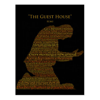 "Rumis ""das Gast-Haus-"" Gedicht-Postkarte Postkarte"
