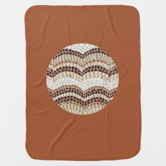 Runde beige Mosaik-Baby-Decke Babydecke