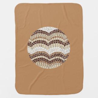 Runde beige Mosaik-Baby-Decke Kinderwagendecke
