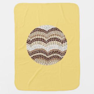 Runde beige Mosaik-Baby-Decke Puckdecke