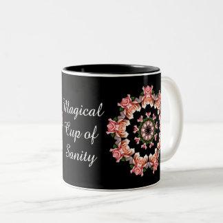 Runde der rosa Rosen - magische Schale Vernunft Zweifarbige Tasse