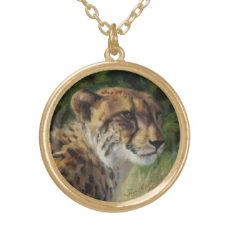 Runde Gepardcharmehalskette im goldtone Ende Vergoldete Kette