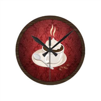 Runde Kaffeetasse-Wanduhr Runde Wanduhr