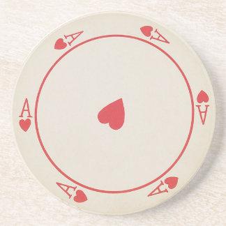 Runde Spielkarte-Untersetzer Getränke Untersetzer