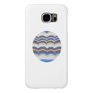 Runder blauer Kasten Mosaik-Samsung-Galaxie-S6