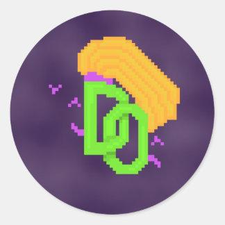 Runder gefürchteter Meinungs-Logo-Aufkleber Runder Aufkleber